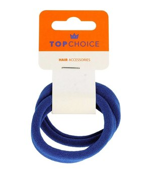 TOP CHOICE, Gumki do włosów Niebieskie 22845 2szt-Top Choice