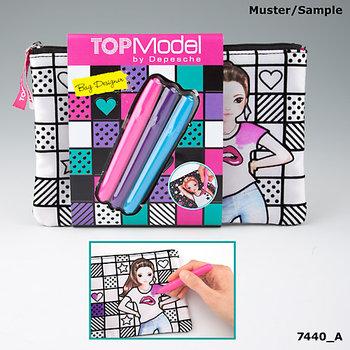 Top Model, piórnik do kolorowania, 7440A-Top Model