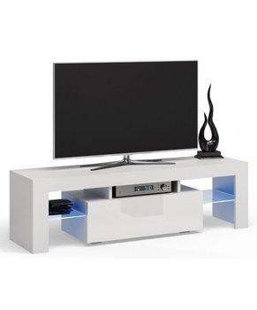 Topeshop, Stolik RTV, Deko, biały, 45x140x40 cm-Topeshop