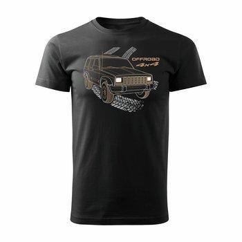 Topslang, Koszulka z samochodem Jeep Grand Cherokee, czarna, regular, rozmiar M-Topslang