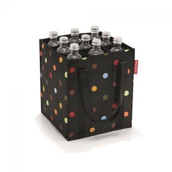 Torba na butelki REISENTHEL Dots, czarna, 24x28x24 cm-Reisenthel