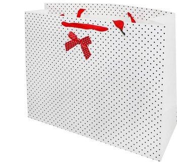 Torba prezentowa, biała, 31x41x13 cm-Pigmejka