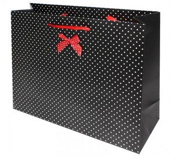 Torba prezentowa, czarna, 31x41x13 cm-Pigmejka