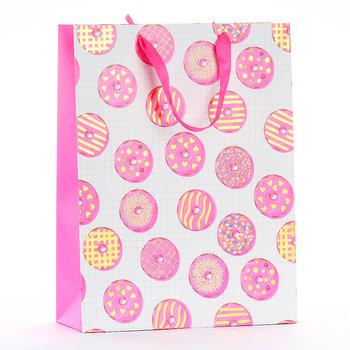 Torba prezentowa, donut, rozmiar L