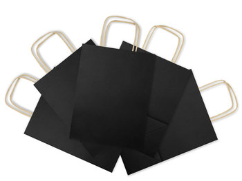 Torba prezentowa, papierowa, czarna, 5 sztuk-Allbag