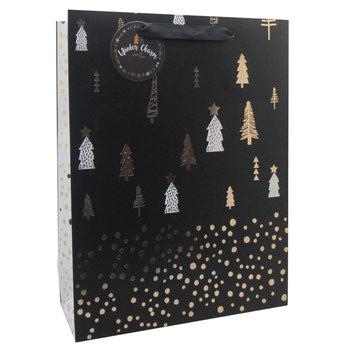 Torba prezentowa, świąteczna, czarna, L, Christmas Time
