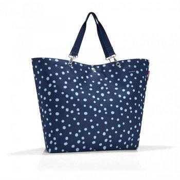 Torba REISENTHEL Shopper XL Spots, niebieska, 68x45,5x20 cm-Reisenthel