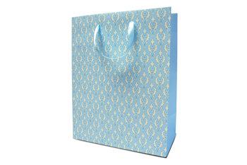 Torebka prezentowa, średnia, błękitna-Konsimo