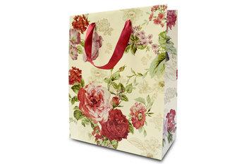 Torebka prezentowa, średnia, róże-Konsimo