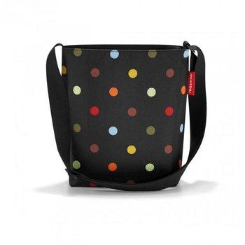 Torebka REISENTHEL Dots Shoulderbag S, czarna, 29x28,5x7,5 cm-Reisenthel