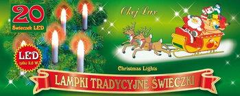 Tradycyjne świeczki na choinkę MULTIMIX, 20 LED, 4,75 m, nr 1761, wielokolorowe-Multimix