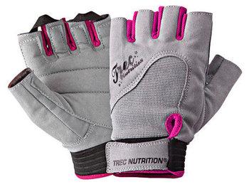 Trec, Rękawiczki fitness, szaro-różowe-Trec