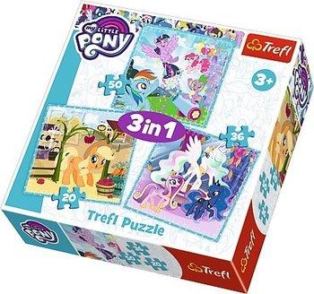 Trefl, My Little Pony, puzzle 3w1 Radosne dni kucyków