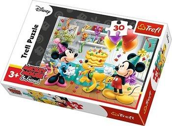 Trefl, Myszka Miki i Przyjaciele, puzzle Tort urodzinowy-Trefl
