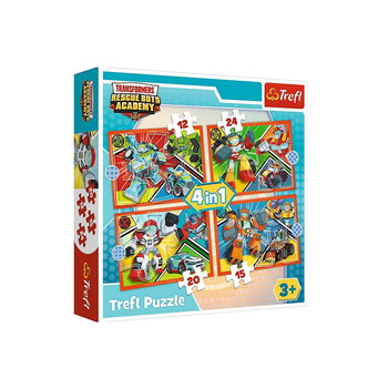 Trefl, puzzle 4w1 Czas Na Transformację, 34352-Trefl