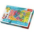 Trefl, puzzle Mapa Polski dla dzieci-Trefl