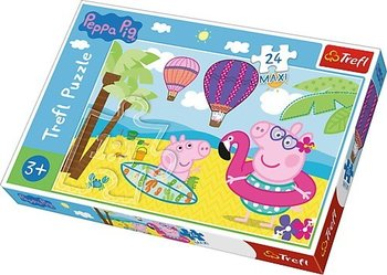 Trefl, puzzle maxi Świnka Peppa na wakacjach-Trefl