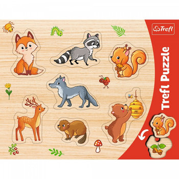 Trefl, puzzle ramkowe Las-Trefl