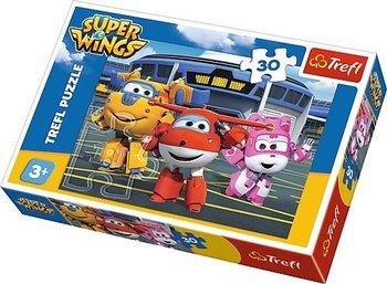 Trefl, Super Wings, puzzle Przyjaciele przed hangarem-Trefl