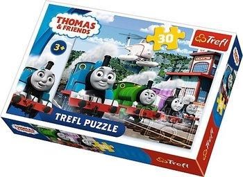 Trefl, Tomek i przyjaciele, puzzle Wyścig na torach-Trefl Baby