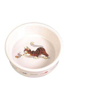 TRIXIE Miska ceramiczna dla kota biała CAT FUN 0,2L-Trixie