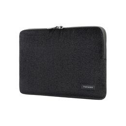 """Tucano Velluto - Pokrowiec MacBook Pro 13"""" (M1/2020-2016) / MacBook Air 13"""" (M1/2020-2018) / Laptop 12"""" (czarny)"""
