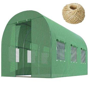 Tunel ogrodowy szklarnia 2x3,5m PLONOS, 7m2, zielony-Plonos