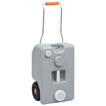 Turystyczny pojemnik na wodę, na kółkach, 25 L, szary-vidaXL