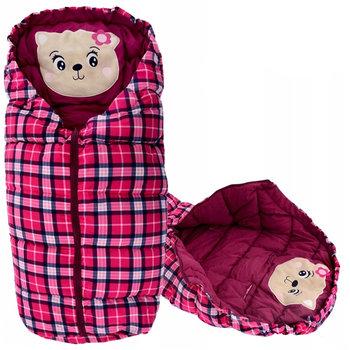 Tutumi, Śpiworek dziecięcy 4w1, Bear, Burgundy/Checkered-Tutumi