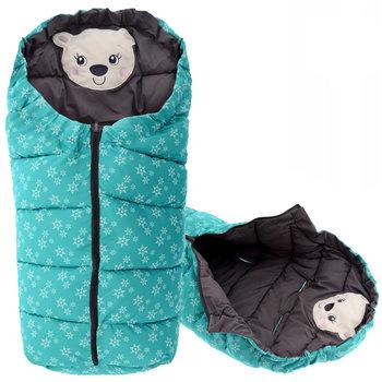 Tutumi, Śpiworek dziecięcy 4w1, Bear, Mint/Grey-Tutumi
