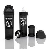 Twistshake, Butelka antykolkowa 330 ml, Czarna