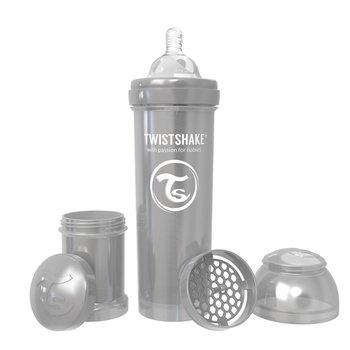 Twistshake, Butelka antykolkowa, 330 ml, Perłowa/Szara-Twistshake