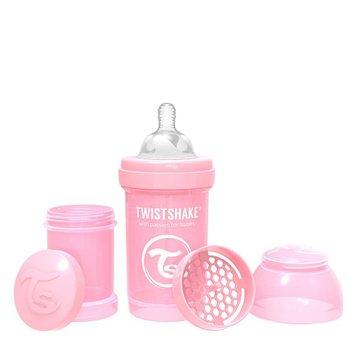 Twistshake, Butelka antykolkowa, Różowy, 180 ml-Twistshake