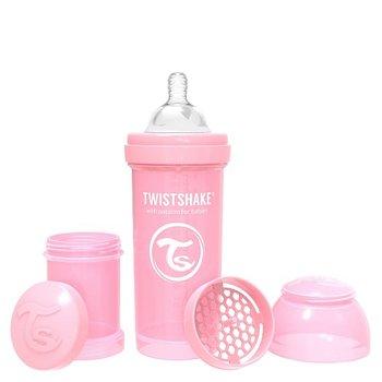 Twistshake, Butelka antykolkowa, Różowy, 260 ml -Twistshake