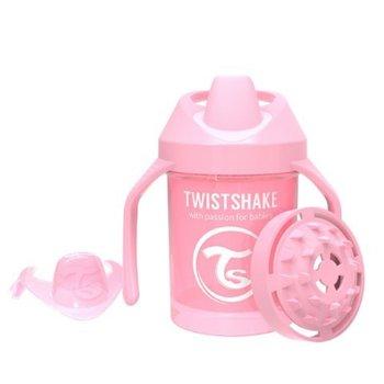 Twistshake, Kubek niekapek z uchwytami i mikserem do owoców, Różowy, 230 ml-Twistshake