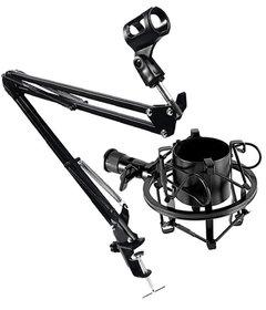 Uchwyt, Statyw Biurkowy do Mikrofonu + Kosz Antywibracyjny 43-47 mm - Zestaw SAIBU