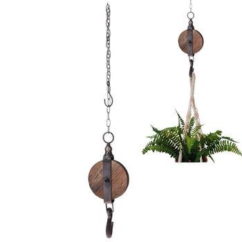 Uchwyt WIESZAK z hakiem na łańcuchu LOFT na doniczkę roślinę-Home Styling Collection