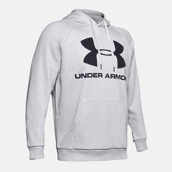 Under Armour, Bluza męska, Rival Fleec Sportstyle Logo Hoddie 1345628 014, szary, rozmiar L-Under Armour