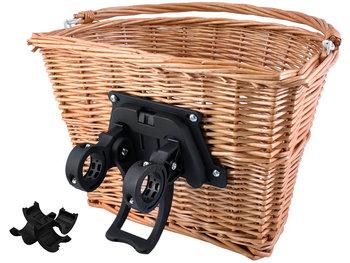 Upominkarnia, Koszyk rowerowy, brązowy, 35x27x23 cm-UPOMINKARNIA