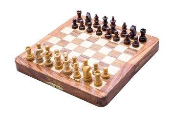 UPOMINKARNIA, Składane drewniane szachy magnetyczne-UPOMINKARNIA