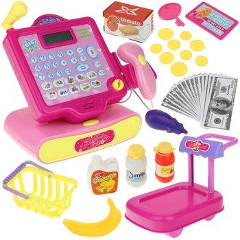 Urwiskowo, kasa fiskalna sklepowa kalkulator skaner wózek róż-Urwiskowo