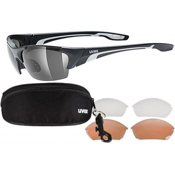 Uvex, Okulary, Blaze III, 3 pary soczewek, czarny-UVEX