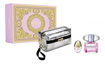 Versace Bright Crystal Zestaw woda toaletowa spray 90ml + miniatura wody toaletowej 10ml + kosmetyczka-Versace