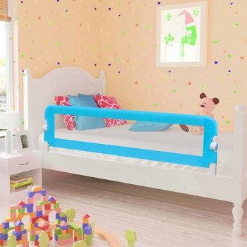 VIDAXL, Barierka do łóżeczka dziecięcego, 42x120 cm, Niebieska-vidaXL