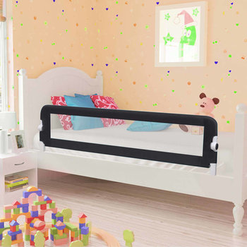 VIDAXL, Barierka do łóżeczka dziecięcego, Szary, 42x150 cm-vidaXL