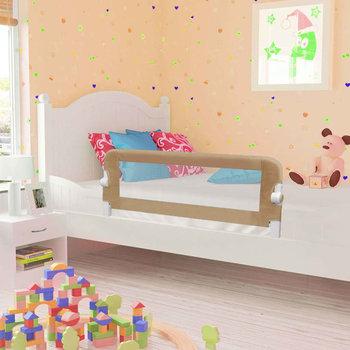 VIDAXL, Barierka do łóżeczka dziecięcego, Taupe, 42x102 cm-vidaXL