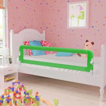 VIDAXL, Barierka do łóżeczka dziecięcego, Zielony, 42x120 cm-vidaXL