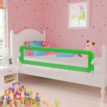 VIDAXL, Barierka ochronna do łóżeczka dziecięcego, Zielony, 42x150 cm-vidaXL