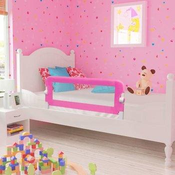 VIDAXL, Barierka ochronna do łóżeczka, Różowy, 42x102 cm-vidaXL