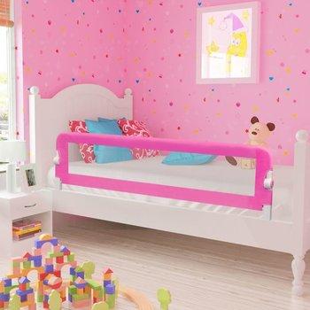 VIDAXL, Barierka ochronna do łóżeczka, Różowy, 42x150 cm-vidaXL